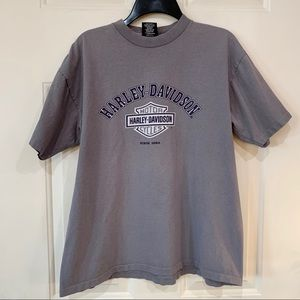 Vintage Gray Harley T Shirt Kansas City Unisex L